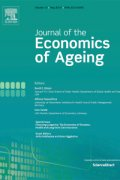 Cover of the Journal of the Economics of Ageing