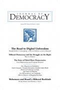 Cover image of the Journal of Democracy
