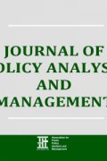 journal of policy analysis and management 3