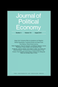 Image of the front cover of the Journal of Political Economy