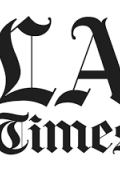 LA Times black letters on white background