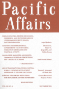 pacific affairs cover
