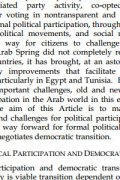 political participation and democratic transition in the arab word