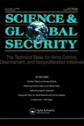 science and global security