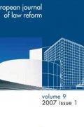 Eur Journal of Law Reform Cover