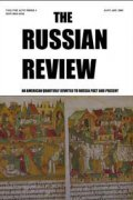 Russian Review cover image