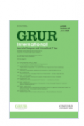 GRUR International cover of journal