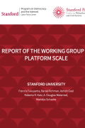 cover of report of the working group on platform scale