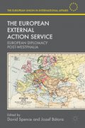 Book Cover of The European External Action Service:  European Diplomacy Post-Westphalia