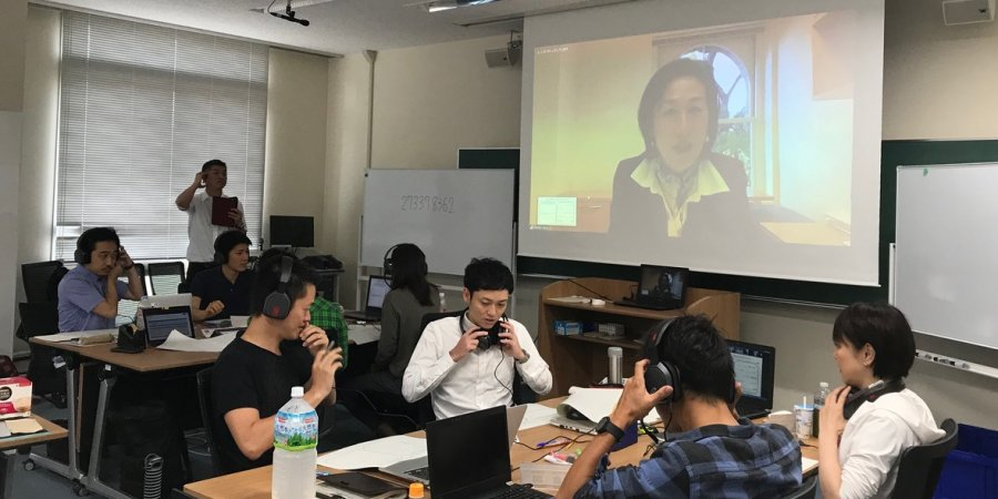 Dr. Yang with MBA students at the Prefectural University of Hiroshima.