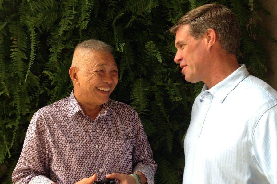 Victor Corup and Joe Felter in Manila.