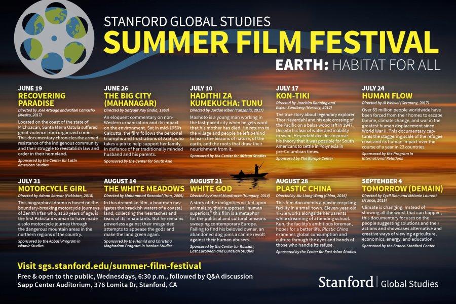 2019 SGS Summer Film Festival Poster