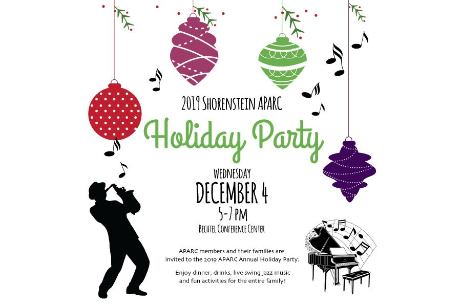 2019 APARC Holiday Party Invitation