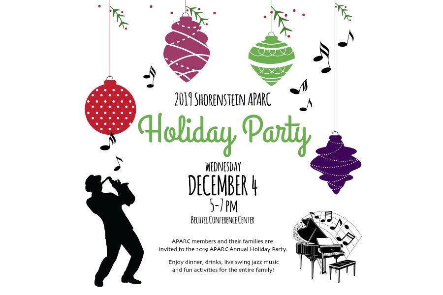 2019 APARC Holiday Party Invitation