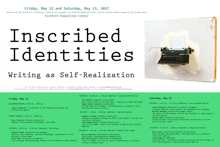 Poster for conference Inscribed Identities