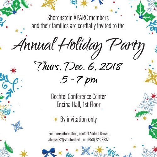 APARC Annual Holiday Party 2018