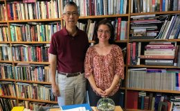 China Scholars Program instructor Tanya Lee & Professor Gordon Chang