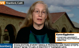 Karen Eggleston on Bloomberg Market news.