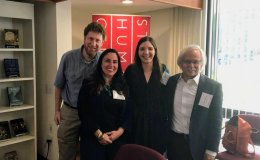 2017–18 EPIC Fellows Colin Schatz, Antonella Vitale, and Kali Rippel (Las Positas College) with SPICE Director Gary Mukai