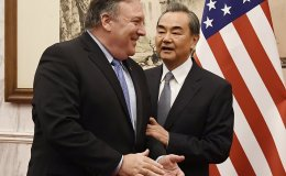 U.S. Secretary Of State Mike Pompeo Meets with Chinese Foreign Minister Wang Yi