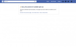 fb content not available