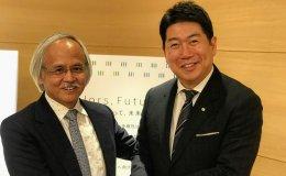 SPICE Director Dr. Gary Mukai with Mayor Norihiko Fukuda