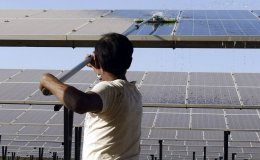Solar panel cleaning logo