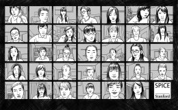 Illustration of a virtual classroom session
