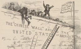 Political cartoon of Chinese exclusion
