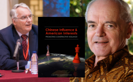 Thomas Fingar and Donald Emmerson, aong with cover of Chinese Influence Report