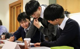 Yokohama Science Frontier High School students at Stanford University