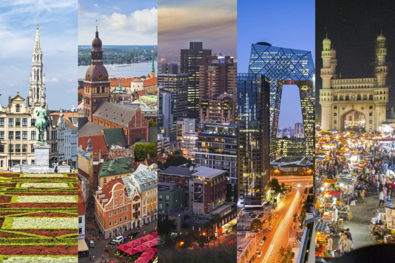 Cityscapes around the world
