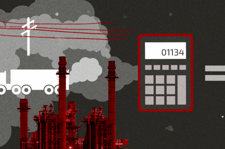 Graphic highlighting the cost of carbon