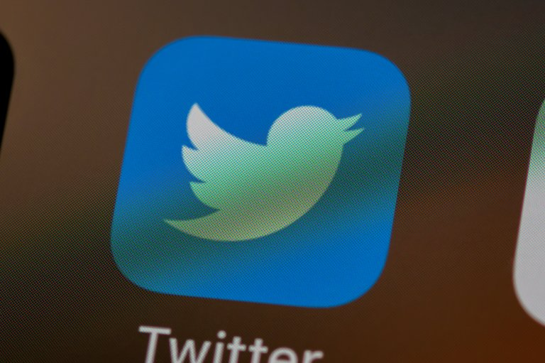 Twitter icon on phone