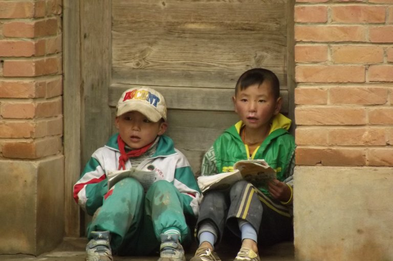 chinese kids reading