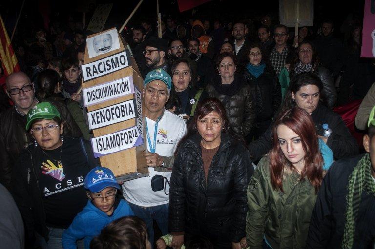 Protesters in Valencia, Spain, 12/20/2014