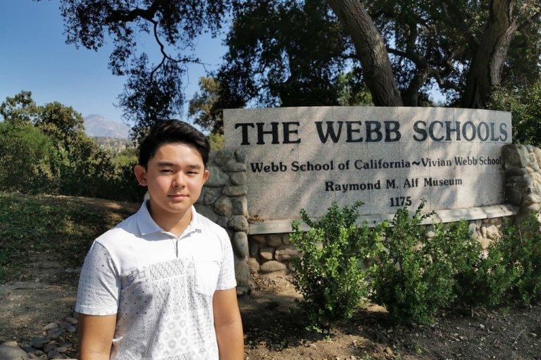 Koki Mashita at Webb School of California; photo courtesy Koki Mashita