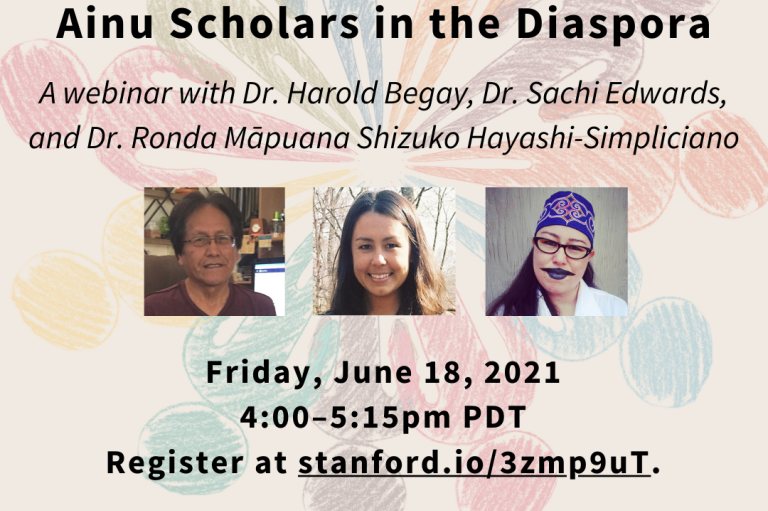 """Promotional flyer for the webinar """"Indigenous Voices: Educational Perspectives from Navajo, Native Hawaiian, and Ainu Scholars in the Diaspora"""""""