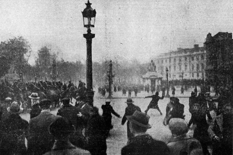 Place de la Concorde February 7, 1934, during riots in Paris