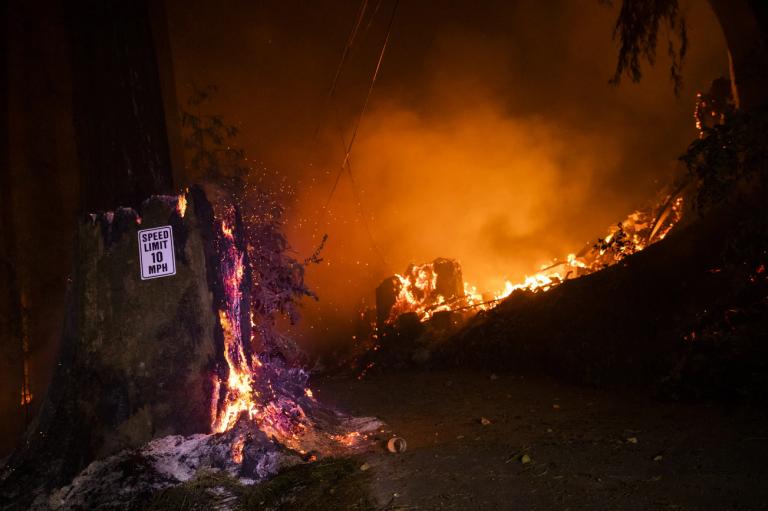 Wildfires in Santa Cruz, CA