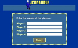 screenshot of jeopardy front screen