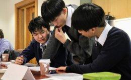 Yokohama Science Frontier High School students at Stanford University