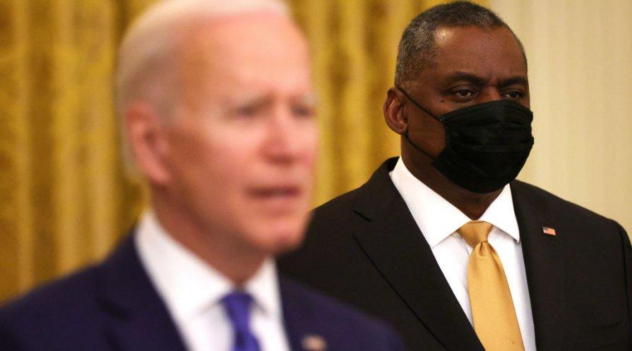 President Joe Biden with Secretary of Defense Lloyd Austin