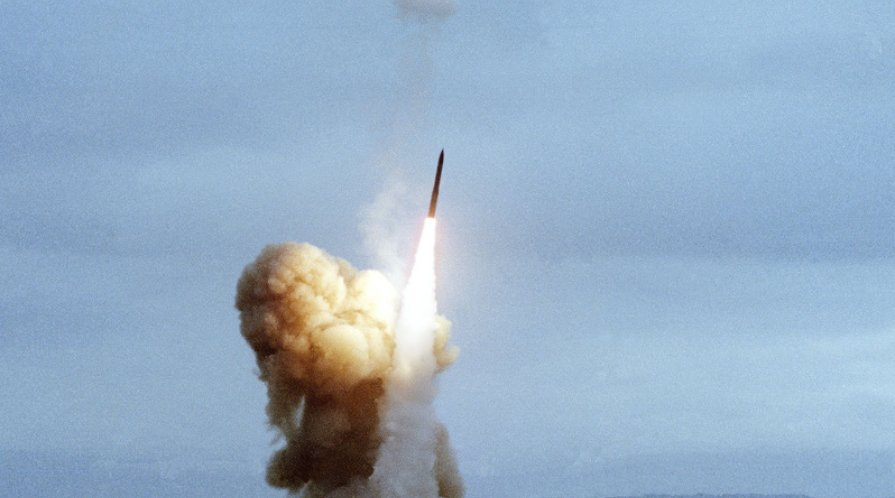 a minuteman iii intercontinental ballistic missile icbm is launched off the a3ab79