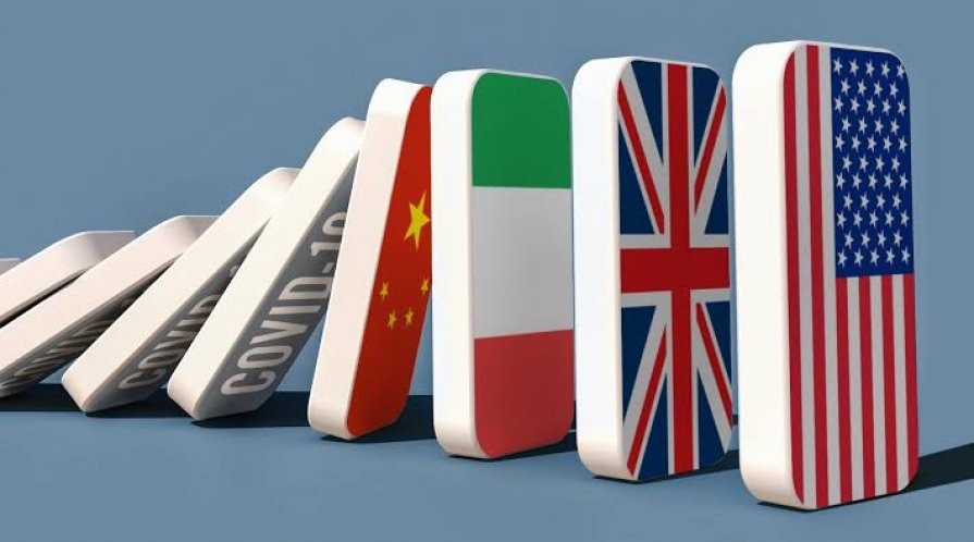 dominoes with different country flags
