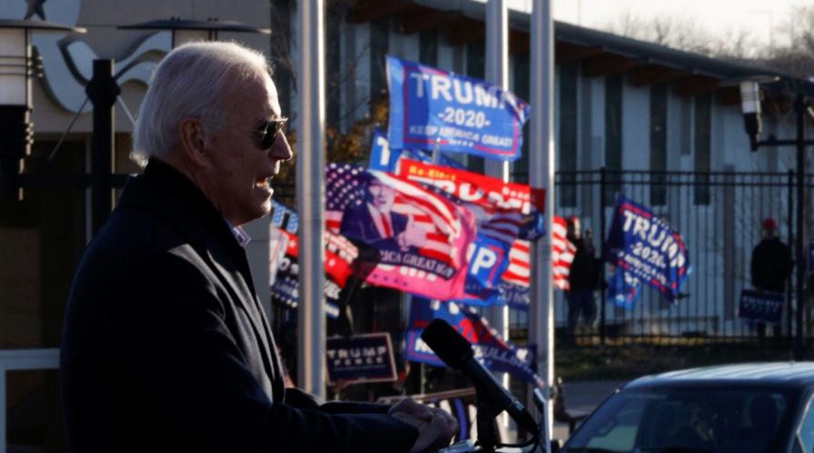 President-elect Joseph Biden addresses a campaign crowd