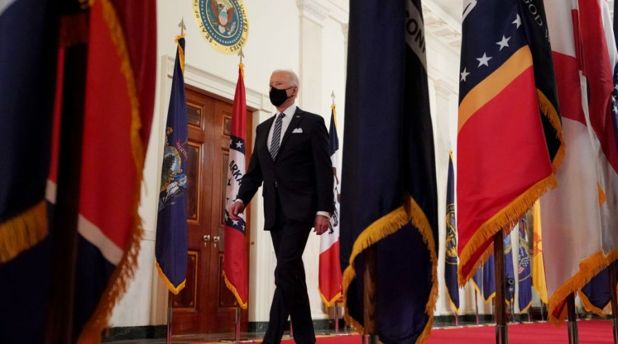 President Biden walking