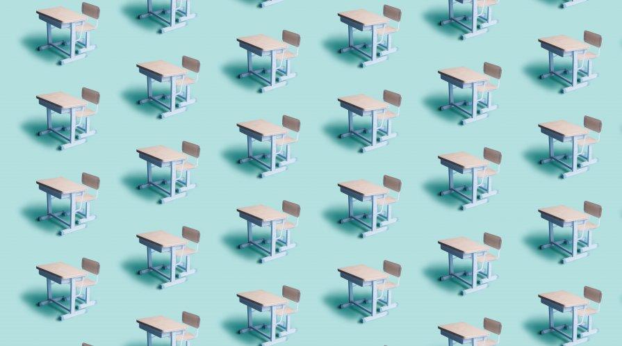 School desks illustration