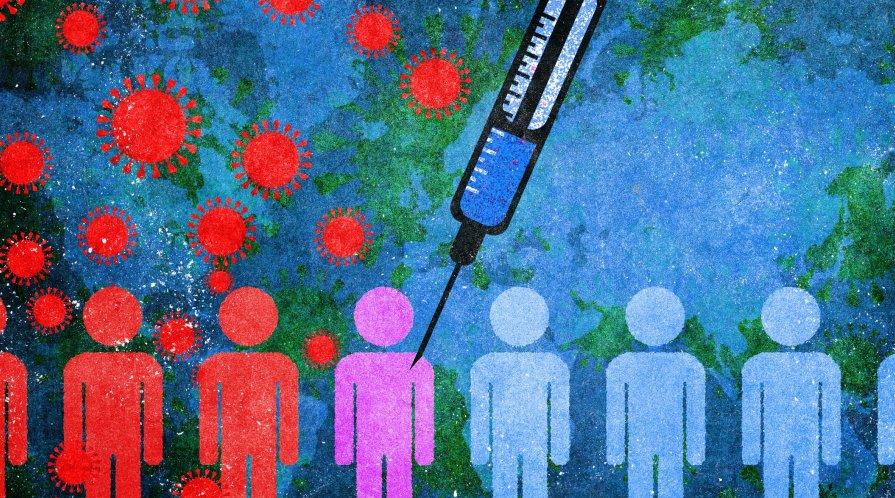 COVID-19 Vaccine Illustration