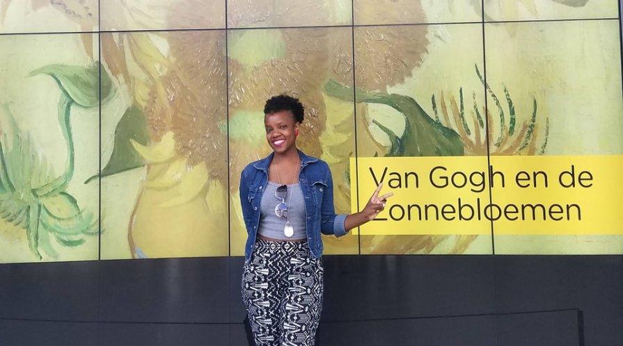 Maiya Evans at the Van Gogh Museum, Amsterdam, Netherlands
